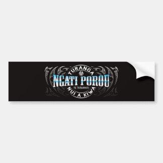 Ngati Porou Lifer Moko Chrome Bumper Sticker