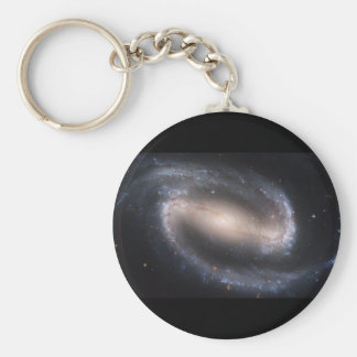 NGC-1300 Barred Spiral Galaxy Basic Round Button Key Ring