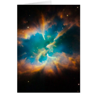 NGC 2818 Planetary nebula glowing Card