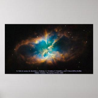 NGC 2818 / Planetary Nebula Poster