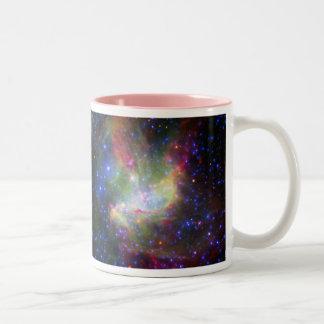 NGC 346 cluster and nebula in Tucana Two-Tone Mug