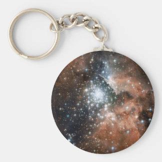 Ngc 3603 Emission Nebula Basic Round Button Key Ring