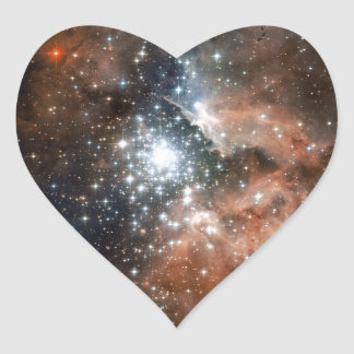 Ngc 3603 Emission Nebula Heart Sticker