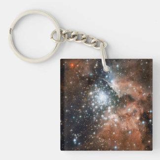 Ngc 3603 Emission Nebula Single-Sided Square Acrylic Key Ring