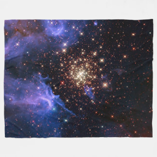 NGC 3603 super star cluster NASA Fleece Blanket