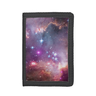 NGC 602: Star Clusters, Small Magellanic Cloud Trifold Wallet