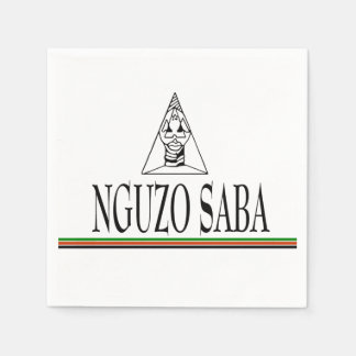 Nguzo Saba Kwanzaa Party Paper Napkins