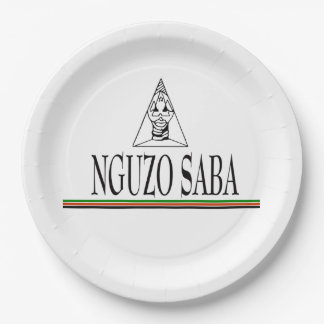 Nguzo Saba Kwanzaa Party Paper Plates