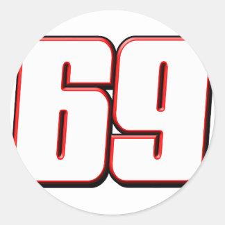 NH69white Classic Round Sticker