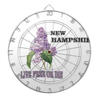 NH live free or die Dartboard