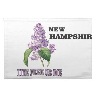 NH live free or die Placemat