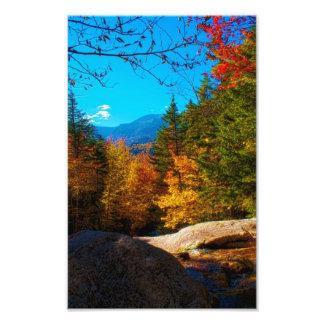NH White Mountains Autumn Scene 2013 Photographic Print
