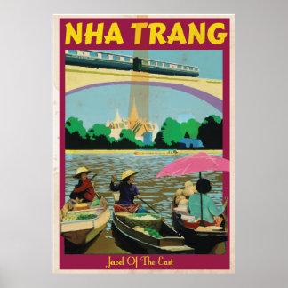 Nha Trang vintage travel poster