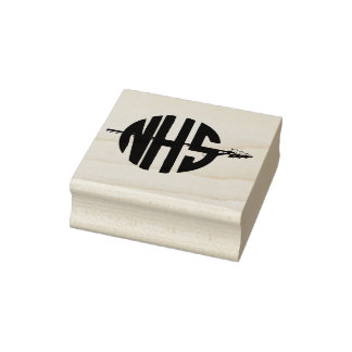 NHS NORWOOD HIGHSCHOOL OHIO INDIANS RUBBER STAMP