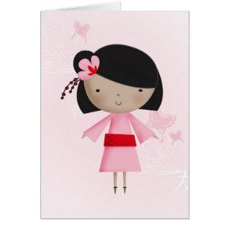 Ni Hao Little Chinese Girl Card
