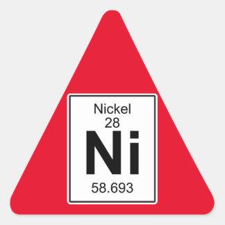 Ni - Nickel Triangle Sticker