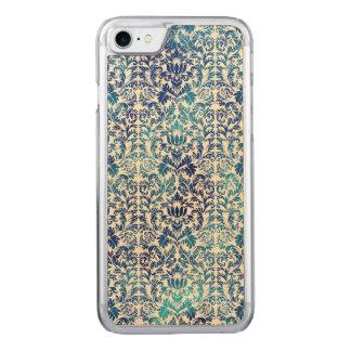 Niagara and Lapis Blue Batik Shibori Damask Carved iPhone 8/7 Case