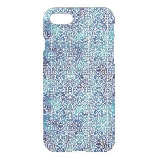 Niagara and Lapis Blue Batik Shibori Damask iPhone 8/7 Case