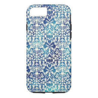 Niagara and Lapis Blue Batik Shibori Damask iPhone 8/7 Case