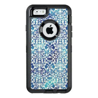 Niagara and Lapis Blue Batik Shibori Damask OtterBox Defender iPhone Case