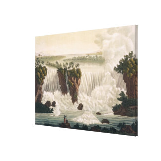 Niagara Falls, 1818, from 'Le Costume Ancien et Mo Canvas Prints