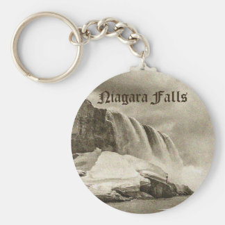 Niagara Falls Antique Sepia Key Ring