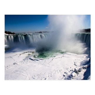 Niagara Falls, Canada in winter Postcard