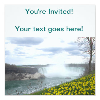 Niagara Falls Canadian Side 13 Cm X 13 Cm Square Invitation Card