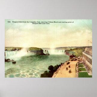 Niagara Falls, Clifton Hotel 1915 Vintage Poster