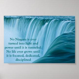 Niagara Falls Dedicated and Disciplined Poster
