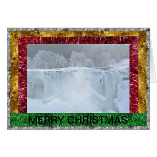 Niagara Falls Frozen Christmas Card