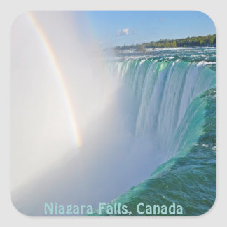 Niagara Falls Horseshoe Falls & Rainbow Square Sticker