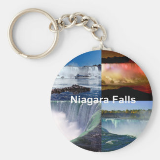 Niagara Falls New York Basic Round Button Key Ring