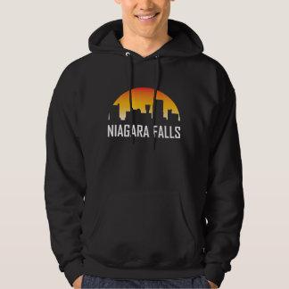 Niagara Falls New York Sunset Skyline Hoodie