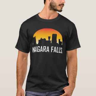 Niagara Falls New York Sunset Skyline T-Shirt