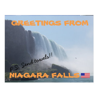 Niagara Falls New York, USA Postcard