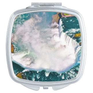 Niagara Falls on a compact mirror