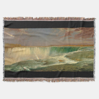 Niagara Falls River Waterfall Canada Throw Blanket