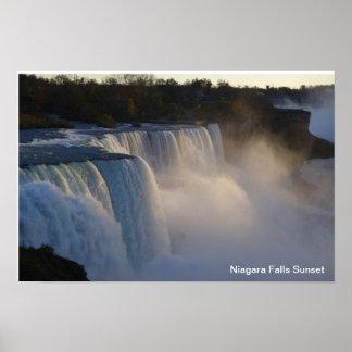 Niagara Falls Sunset Poster