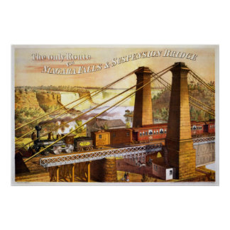Niagara Falls Suspension Bridge  1876 Poster