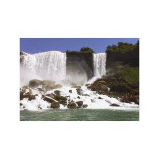 Niagara Falls - Water Top View Canvas Print