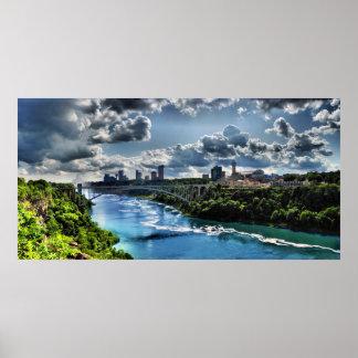 Niagara River / Rainbow Bridge Poster