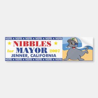 Nibbles for Mayor Bumper Sticker