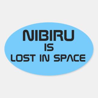 Nibiru is lost in space oval sticker