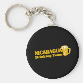 NICARAGUA BASIC ROUND BUTTON KEY RING
