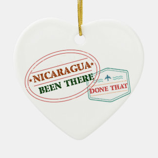 Nicaragua Been There Done That Ceramic Heart Decoration