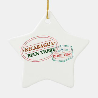 Nicaragua Been There Done That Ceramic Star Decoration