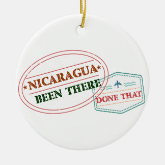Nicaragua Been There Done That Round Ceramic Decoration