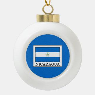 Nicaragua Ceramic Ball Christmas Ornament