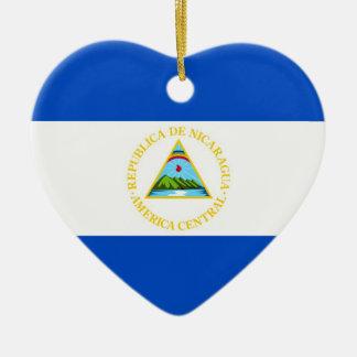 NICARAGUA CERAMIC HEART DECORATION
